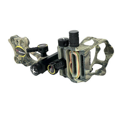 Aluminum Machined Micro Adjust 5 Pin .019'' Bow Sight Camo for Right Hand