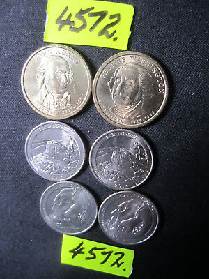 6 x  coins from  U.S.A.     50  gms      Mar4572