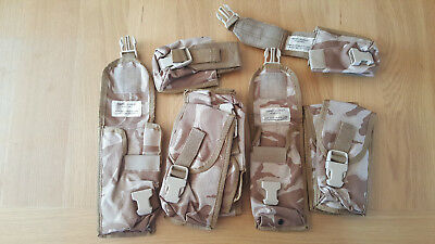 British Army Osprey  Assault Pouches X 9 MOLLE DESERT DPM NEW OLD STOCK