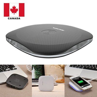 Wireless Charger Fast Charging Pad Square Design For iPhone X/8/8 Plus Samsung