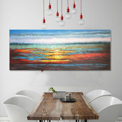 Modern Abstract Handmade Oil Painting Stretched Canvas Wall Art Home Deco Framed