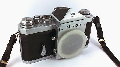 Nikon 'F' Pioneering Pro. Silver SLR Body + Strap & Cap. 'EXCELLENT++' Condition