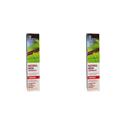 2X New Desert Essence Natural Neem Toothpaste Teeth Care Dental Care Gums Care
