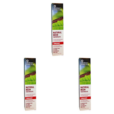 3X New Desert Essence Natural Neem Toothpaste Teeth Care Dental Care Gums Care