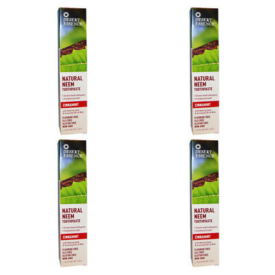 4X New Desert Essence Natural Neem Toothpaste Teeth Care Dental Care Gums Care