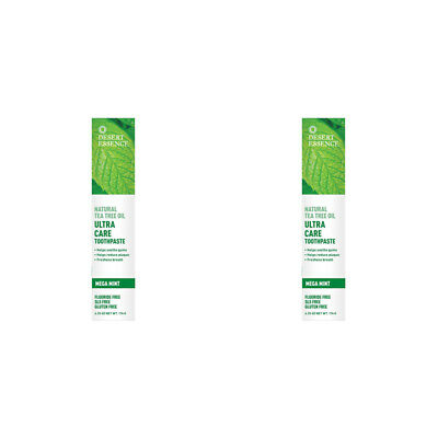 2X New Desert Essence Tea Tree Oil Ultra Care Toothpaste Helps Soothe Gums Care