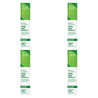 4X New Desert Essence Tea Tree Oil Ultra Care Toothpaste Helps Soothe Gums Care