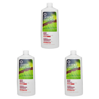 3X New Desert Essence Natural Neem Mouthwash Teeth Care Dental Care Alcohol Free