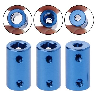 Aluminum Alloy Coupling 3D Printers Parts Blue Flexible Shaft Coupler