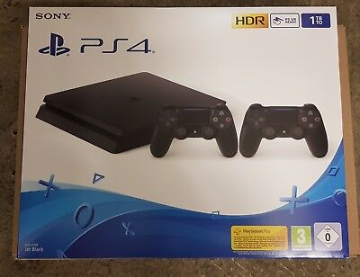 SONY Playstation 4 PS4 Slim 1TB Black + 2.Controller  NEU/OVP