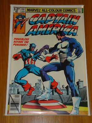 Captain America #241 Comic Nm Punisher Miller Cover January 1980