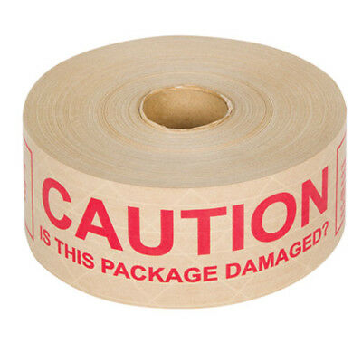 6 x Tegrabond 70mm x 152m Printed CAUTION IS THIS PACKAGE DAMAGED Adhesive Tape