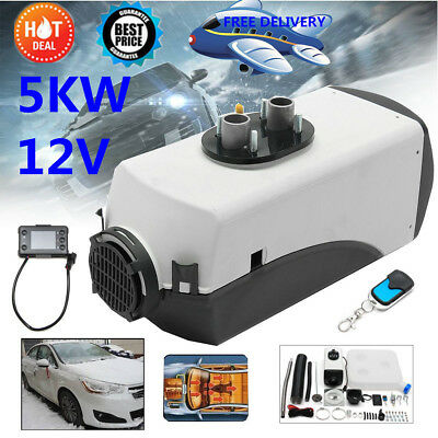12V 5000W LCD Monitor Air Diesel Fuel Heater Voiture Chauffage 5KW Pr Car BUS