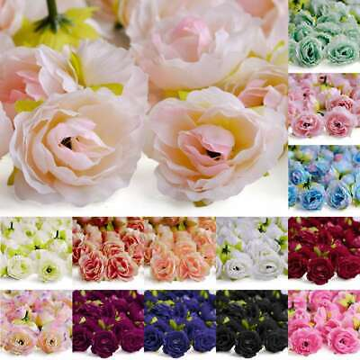 50pcs Artificial Cherry Blossom Flower Heads Wedding Party Decor Supply DIY 40mm