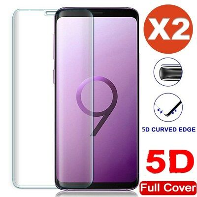 1/2 Stk 5D echt Curved  Glasfolie Folie für Samsung Galaxy S7 S8 S9plus Note 8