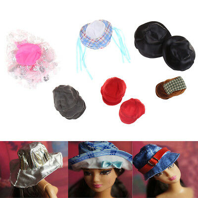 5X Doll Accessory Fashion Doll Hat Casual Sun Hat For Barbie Doll Xmas Gift FT