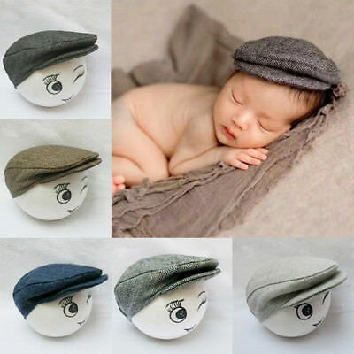 cc3159177 CUTE BABY NEWBORN Newsboy Peaked Beanie Flat Cap Hat Baby Boys Girls ...