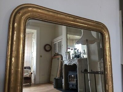 19th Century French Gilt Louis Philippe  Mirror Original  Glass And Back