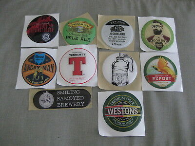 Collection of 10 Beer Stickers - Murray's, Burleigh,Sierra Nevada,Tennent's...