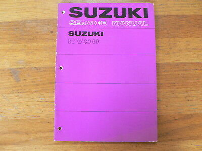 Suzuki Rv90 Beach Bike 1977 Service Manual Motorcycle Bike Motorrad Rv 90