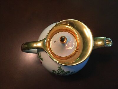 Hall Teapot Gold Trim Carrot Radish Very Nice - Rare