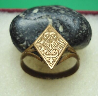 Ancient Roman Bronze Ring Original Authentic Antique Rare R298