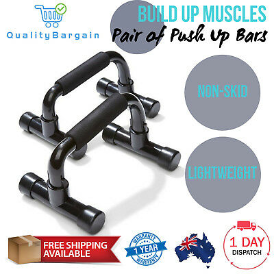 Fitness Push Up Bars Black Pushup Pair Exercise Grip Tool Bar Portable Training