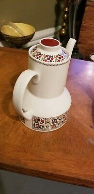 Royal Doulton Mid Century Fireglow Coffee Pot - Never Used