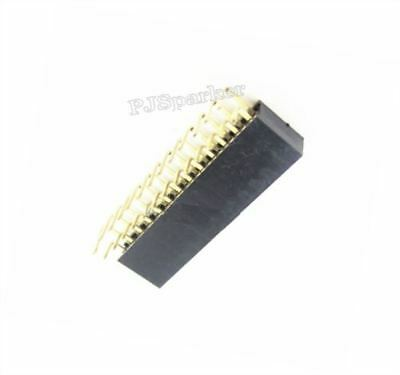 10Pcs 2.54MM Socket Connector Pin Header Pitch 2X13 Right Angle Female Double xw