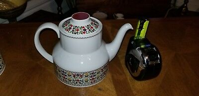 Royal Doulton Mid Century Fireglow Tea Pot and Cream and Sugar - Never Used