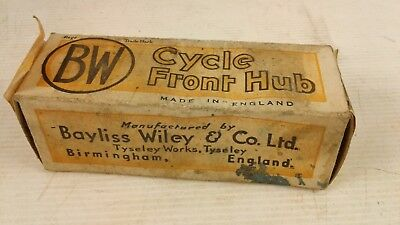 Vintage BW bicycle/cycle front wheel Hub empty box/package made in England