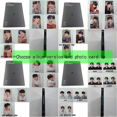 BTS 3rd album Love yourself Tear selected CD Photocard folded poster KPOP Opened