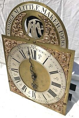 Longcase Grandfather Clock Dial And Movement Rocking Father Time Automation