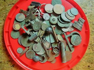 job lot of metal detecting finds