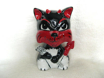 Lorna Bailey Cat For Halloween Devil Special Edition Signed Black White And Red