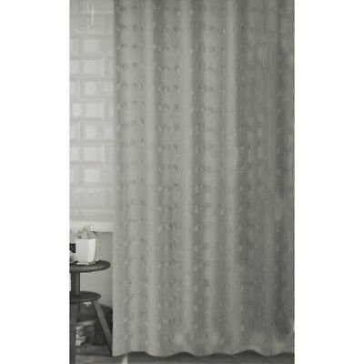 EXTRA LONG SHOWER Curtain 72 X 78 Inch Sealskin Speckles Gray Fabric