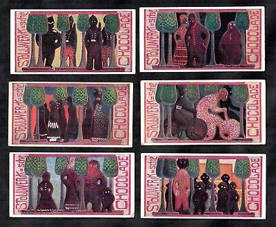 Life In Chocolate Land Stollwerck Alb4 German Card Set 1900 Soldier Cycling
