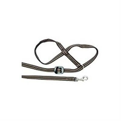 Gencon All-in-1 Dog Lead & Headcollar With Clip To Collar - Coffee/cream - Left