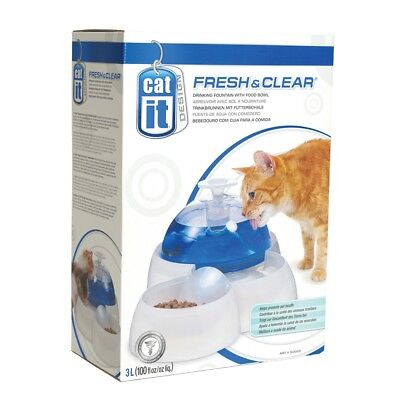 Catit Fresh & Clear Drinking Fountain For Cats And Puppies - Cat Bowl Food
