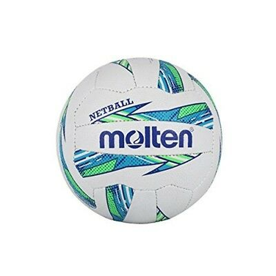 Molten Women's Maestro Netball International Level, Green/blue, Size 5 - Nybg
