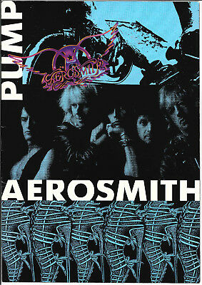 Aerosmith Pump Tour Program Book 1990 Steven Tyler Joe Perry Brad RARE Joey TOM