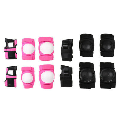 Outdoor 6pcs Adult/Child Knee Elbow Wrist Pads Guard Roller Skating Scooter