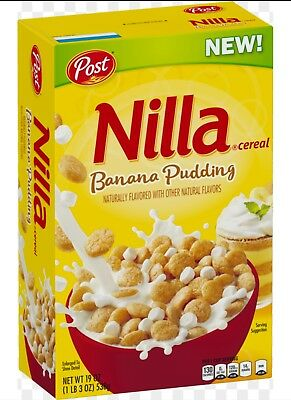 BRAND NEW! NOT IN STORES YET!!! Nilla Banana Pudding Cereal Post Brand New 19oz