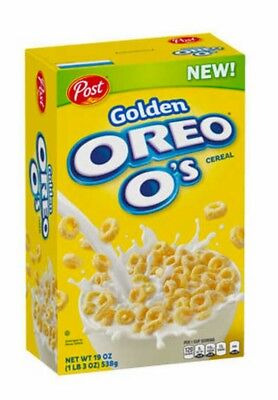 BRAND NEW! NOT IN STORES YET!! Golden Oreo O's Cereal Post Brand New 19oz
