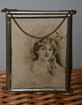 Antique Tri-fold Mirror Gibson Girl