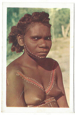 OLD POSTCARD Aboriginal Woman Melville Island  nd. c.1960's