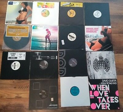 15 Vinyls: Master Blaster, The Disco Boys, Cosmic Gate, David Guetta, Eric Prydz