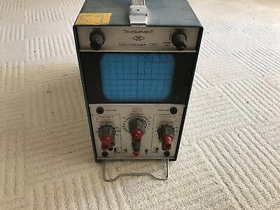 Dual / Two Channel Vintage Oscilloscope Telequipment D61
