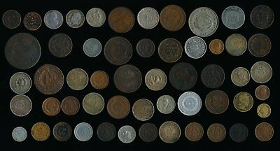 55 Old Mexico & Latin/south America Coins (Many Collectibles) No Reserve