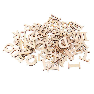 52pcs A-Z Wooden Capital Letters Wood Lower Case Letters for Arts Crafts DIY